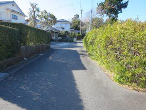 千葉県館山市の不動産,古家付き土地,移住用地,南側はこの先行き止まり