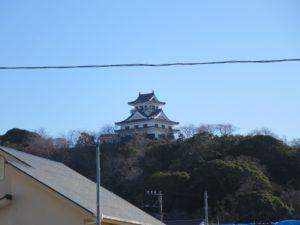 千葉県館山市の不動産,古家付き土地,移住用地,2階建なら館山城見えます