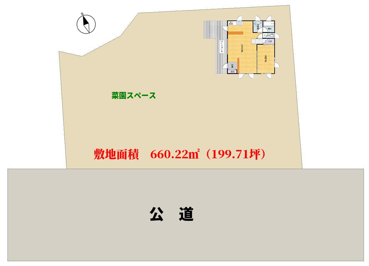 千葉県南房総市富浦町福沢,ログハウスの物件敷地図