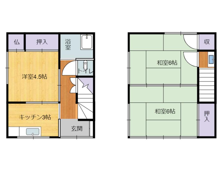 千葉県南房総市和田町和田の不動産間取り図