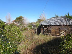 千葉県館山市の不動産,古家付き土地,移住用地,西側に回ってみました