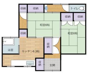 千葉県館山市の不動産,古家付き土地,移住用地,古家の参考間取図
