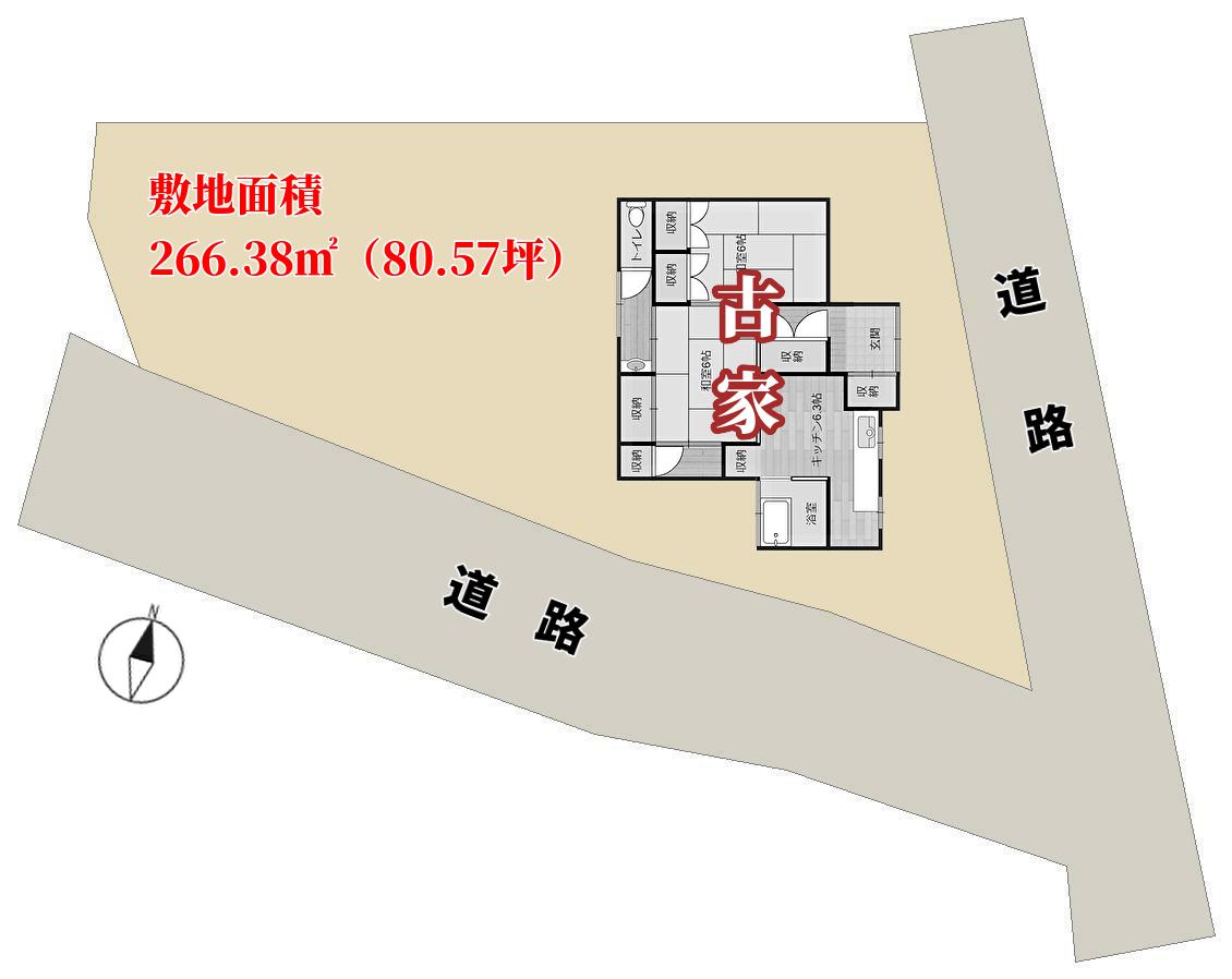 千葉県館山市館山,不動産,敷地概略図