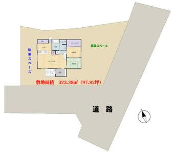 ミニ菜園付海浜売家 館山市加賀名 2LDK+ロフト 2480万円 物件概略図