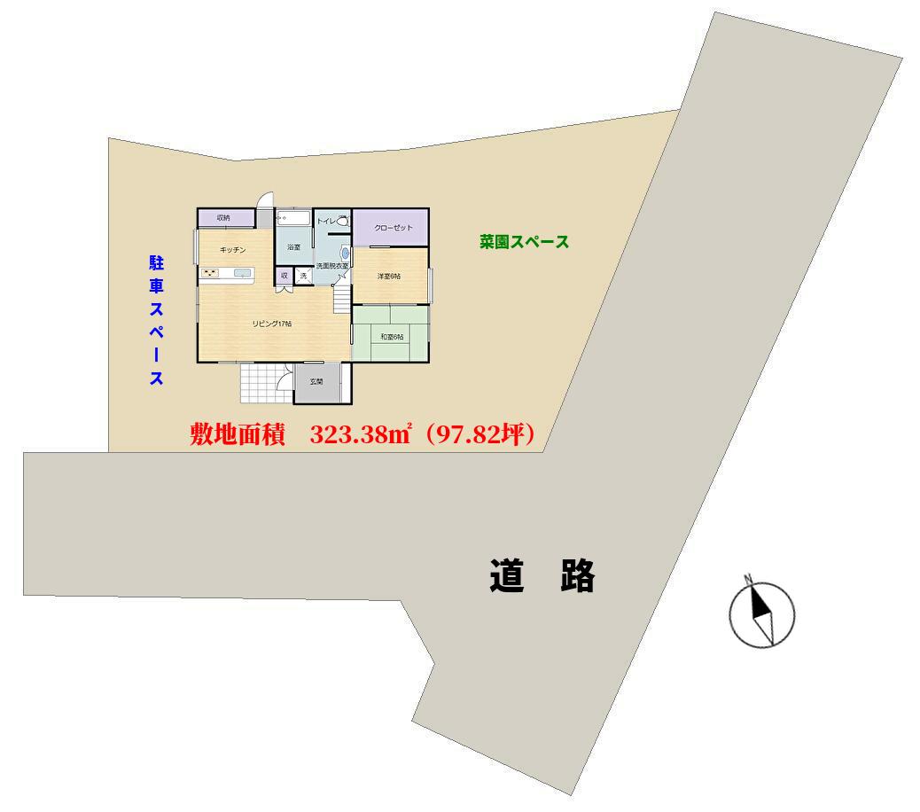 千葉県館山市加賀名,ポピーランド別荘,物件敷地図