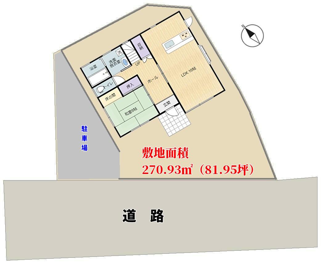 千葉県館山市館山の戸建,敷地概略図