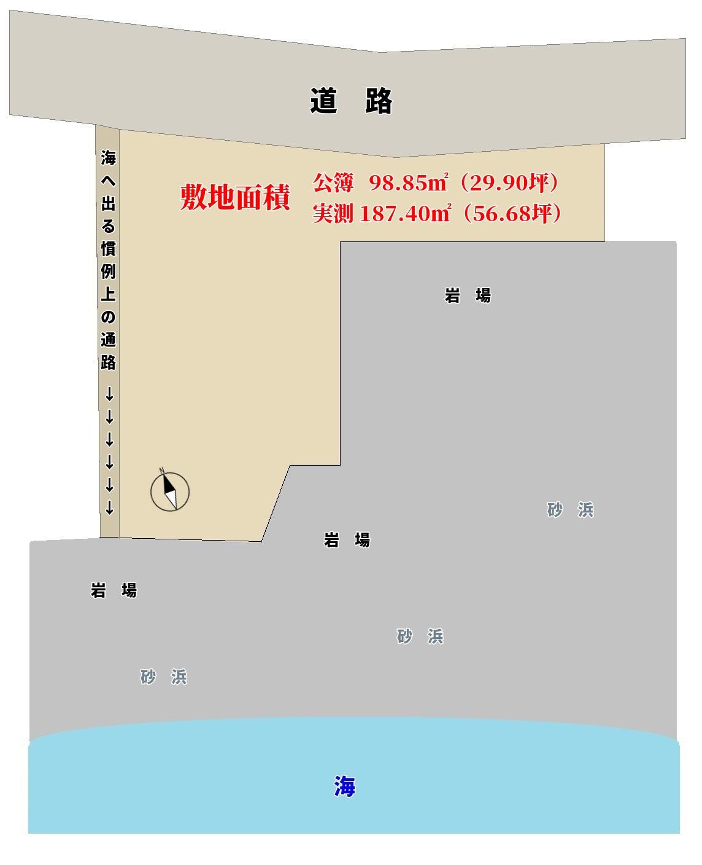 千葉県南房総市富浦町多田良の不動産,物件概略図