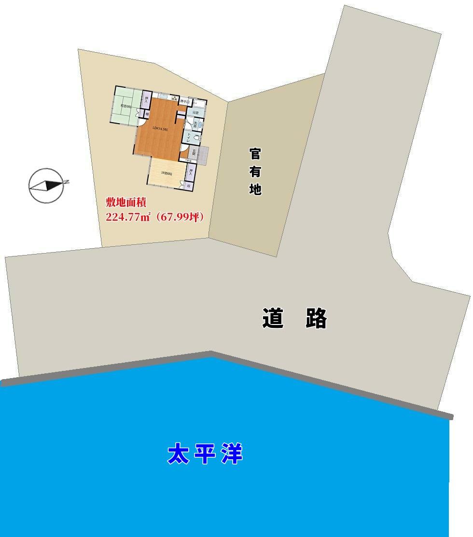 千葉県南房総市千倉町川口海前戸建ての敷地概略