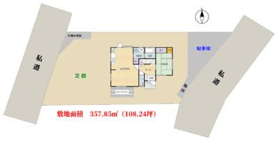 海望売家 館山市加賀名/見物 4SLDK 1540万円 物件概略図