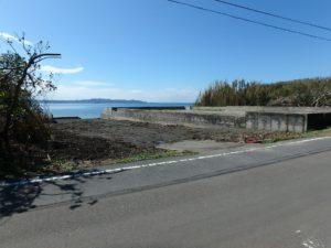 千葉県南房総市富浦町多田良の不動産,海っぺりの土地,海岸隣接,海の眺望,細長い敷地は75坪です