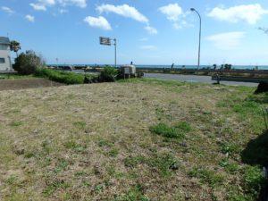 千葉県南房総市和田町白渚の不動産,海前の土地,国道に面した立地です