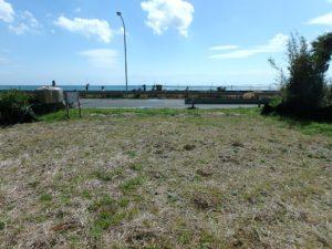 千葉県南房総市和田町白渚の不動産,海前の土地,家を建てれば海一望だね