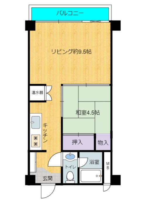 千葉県館山市洲崎のマンション,洲崎ロイヤルマンション間取り図