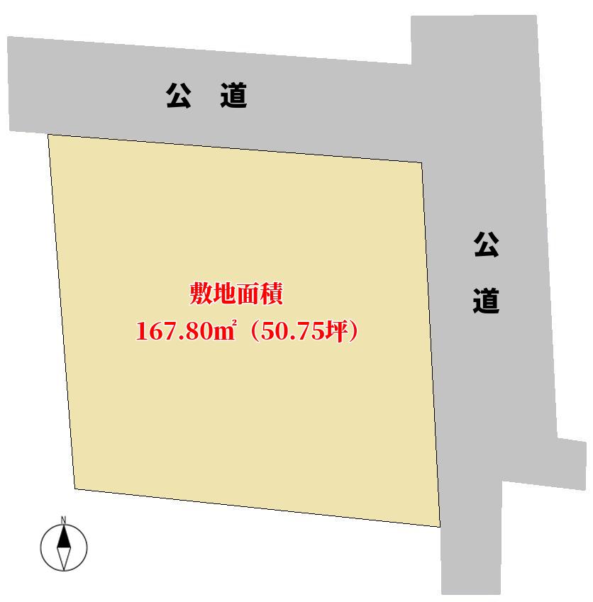 千葉県館山市北条の不動産,土地の概略図
