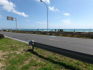 千葉県南房総市和田町白渚の不動産,海前の土地,海側には遊歩道もある