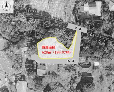 海浜売地 館山市見物 628㎡(189.97坪) 750万円 物件概略図