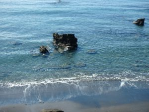 千葉県南房総市富浦町多田良の不動産,海っぺりの土地,海岸隣接,海の眺望,目の前の海に下りました