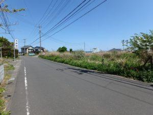 千葉県南房総市千倉町の不動産,海が見える土地,別荘用地,広い土地,この先は海岸線の道路