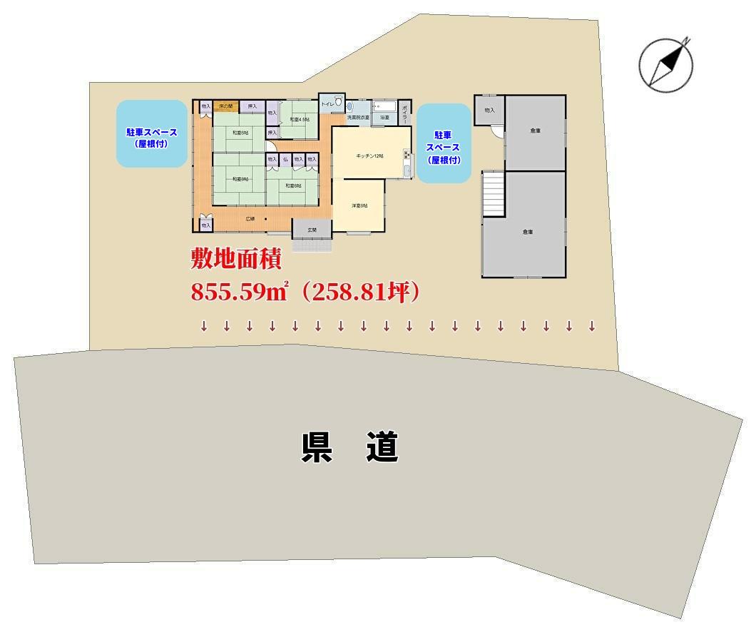 千葉県富津市豊岡の不動産,田舎暮らし敷地概略図