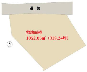 海遠望売地 南房総市千倉町瀬戸 1052.05㎡(318.24坪) 2480万円 物件概略図