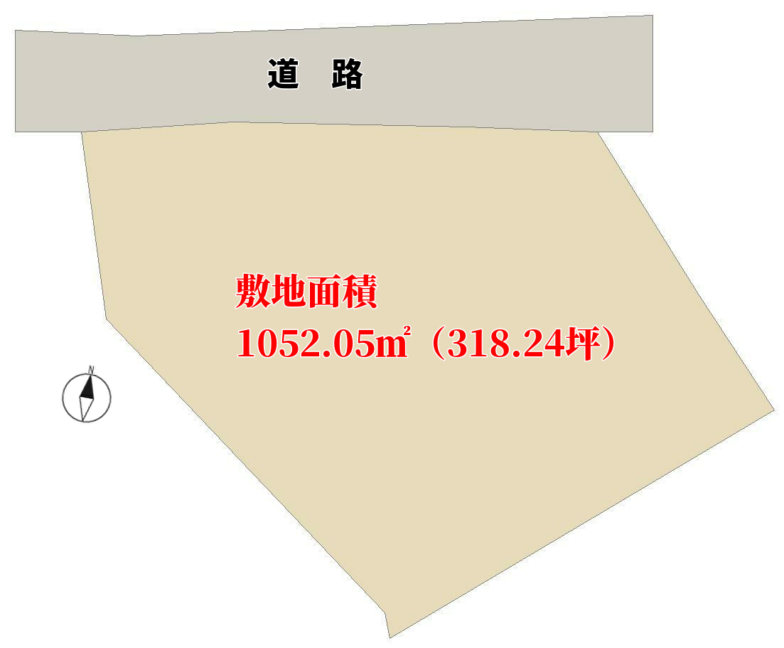 千葉県南房総市千倉町瀬戸の不動産、土地、敷地の概略図