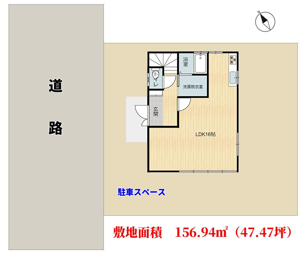 千葉県鴨川市宮ニューサンクレメンテの不動産,敷地概略図