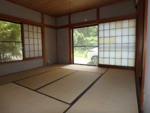 千葉県南房総市千倉町川戸の不動産、中古戸建、別荘、作業場付き、玄関右手の1階和室です