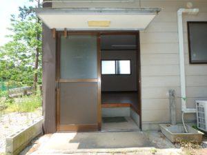 千葉県南房総市千倉町川戸の不動産、中古戸建、別荘、作業場付き、中に入ってみます