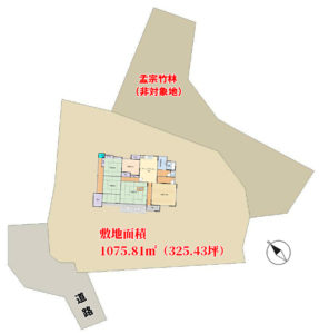 売古民家 夷隅郡大多喜町久我原 5SDK 2480万円 物件概略図