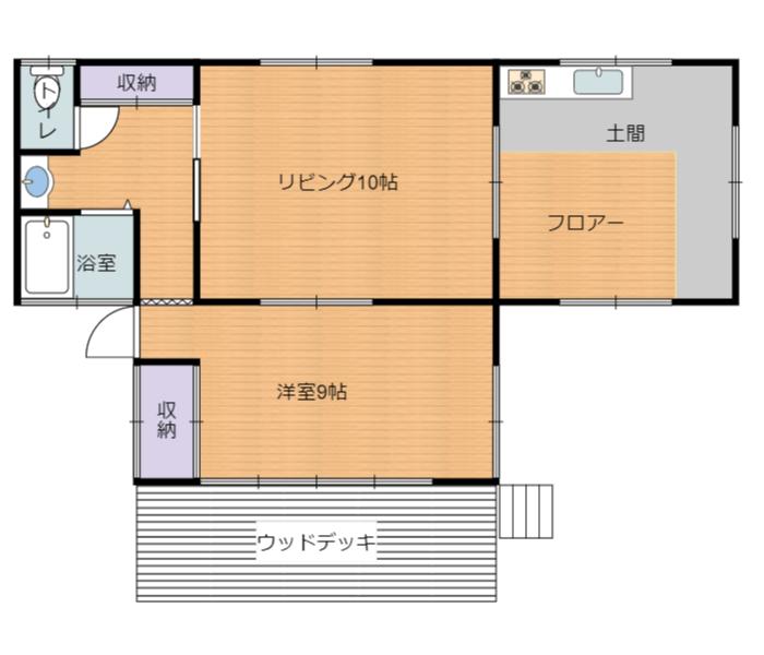 千葉県鴨川市平塚の不動産、山小屋別荘、中古住宅、物件間取り図