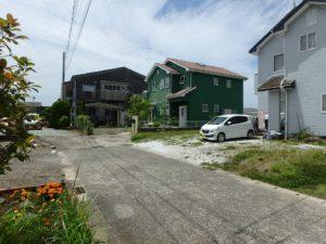 千葉県館山市薗の不動産、中古戸建、売家、九重地区、田舎暮らし、移住、道路から物件の全景です