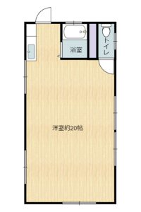 千葉県館山市正木の不動産、山林、小屋付き、ドッグラン、動物飼育、個人キャンプ場、建物参考間取図