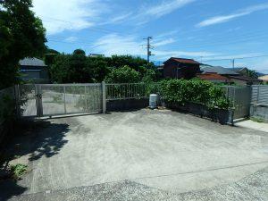 千葉県南房総市富浦町多田良の不動産、土地、海水浴場近く、海が見える、西側の門も使えそう
