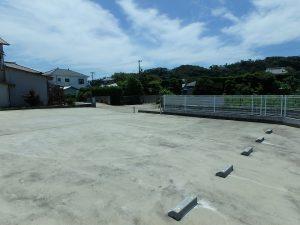 千葉県南房総市富浦町多田良の不動産、土地、海水浴場近く、海が見える、現況は複数台余裕で駐車
