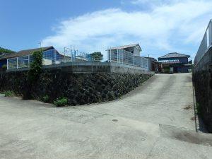 千葉県南房総市富浦町多田良の不動産、土地、海水浴場近く、海が見える、北側の道から見ると