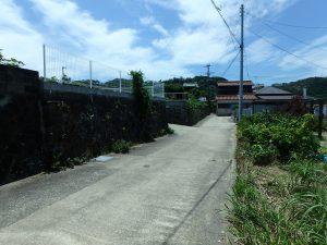 千葉県南房総市富浦町多田良の不動産、土地、海水浴場近く、海が見える、北側の接道になります