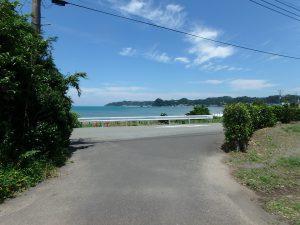 千葉県南房総市富浦町多田良の不動産、土地、海水浴場近く、海が見える、僅か100mで海です