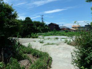 千葉県南房総市富浦町多田良の不動産、土地、海水浴場近く、海が見える、倉庫以外の建物は解体済