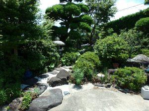 千葉県南房総市富浦町多田良の不動産、土地、海水浴場近く、海が見える、自慢の庭園はそのまま
