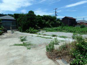 千葉県南房総市富浦町多田良の不動産、土地、海水浴場近く、海が見える、敷地は道を挟んで二つ