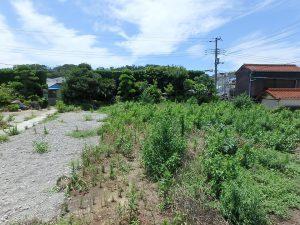 千葉県南房総市富浦町多田良の不動産、土地、海水浴場近く、海が見える、合計で280坪と広々です