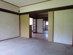 千葉県館山市宮城の不動産、古家付き土地、田舎暮らし、二地域居住、DIY物件、間取りは3DK