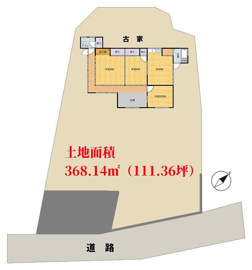 千葉県館山市宮城の不動産、敷地概略