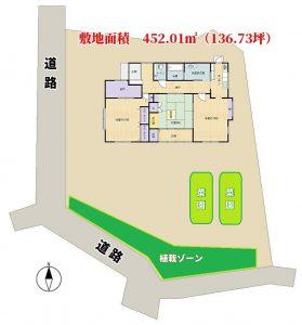 売家 館山市稲 2SLDK 1680万円 物件概略図