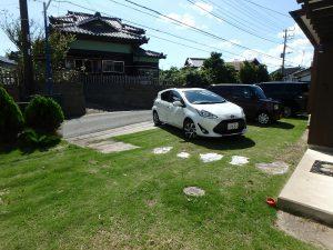 千葉県鴨川市天津の不動産、外房地区、中古住宅、別荘、城崎海岸近く、平家、道路側の様子です