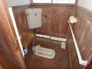 千葉県館山市小原の不動産、古民家、別荘用途、飲食関係、トイレは水洗ですよ