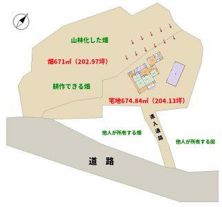売家 南房総市富浦町深名 5SDK 950万円 物件概略図