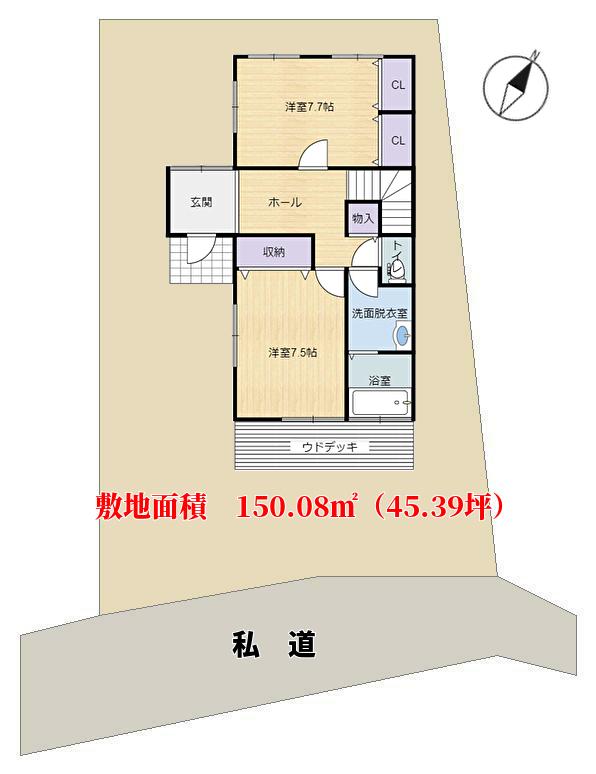 千葉県鴨川市東真門の不動産、別荘、敷地概略図