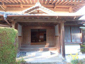 千葉県館山市小原の不動産、古民家、別荘用途、飲食関係、すごい主玄関です