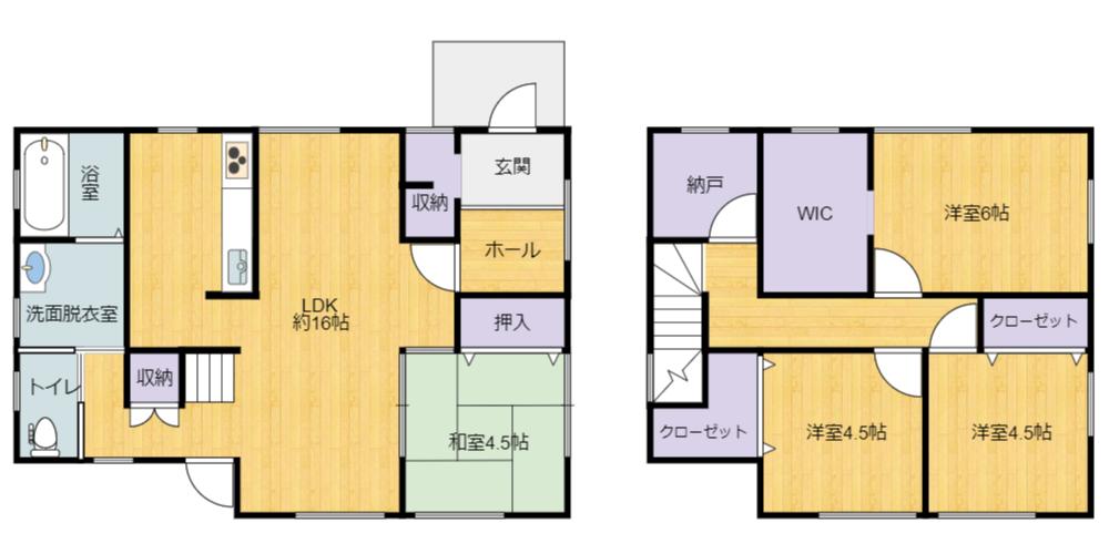 千葉県館山市長須賀の不動産、間取り図